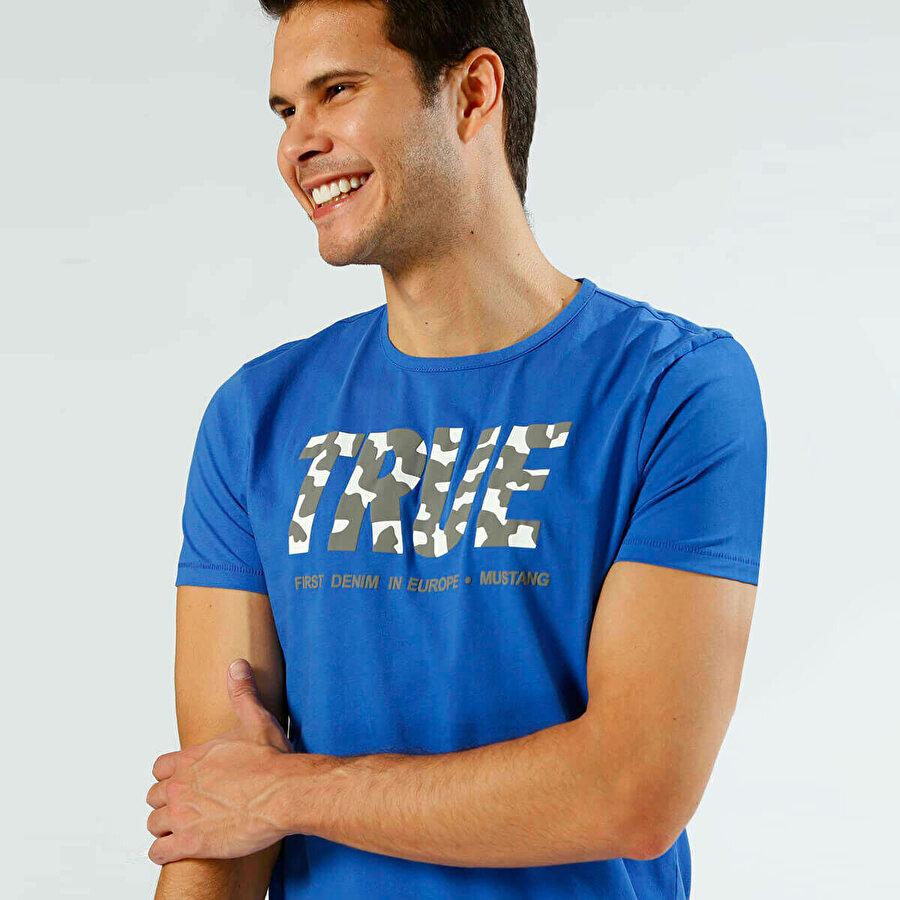 Mustang 04-M00186-558 Mavi Erkek Kısa Kol T-Shirt