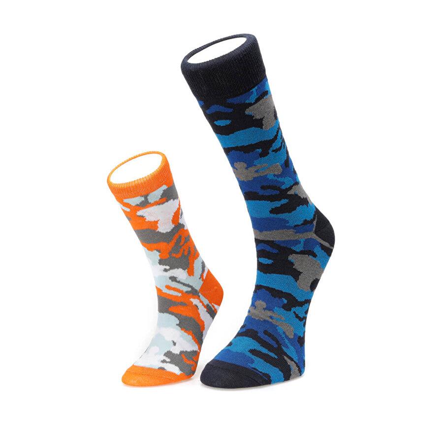 Fiyaka FYK108 BABA KIZ Saks Erkek Çorap