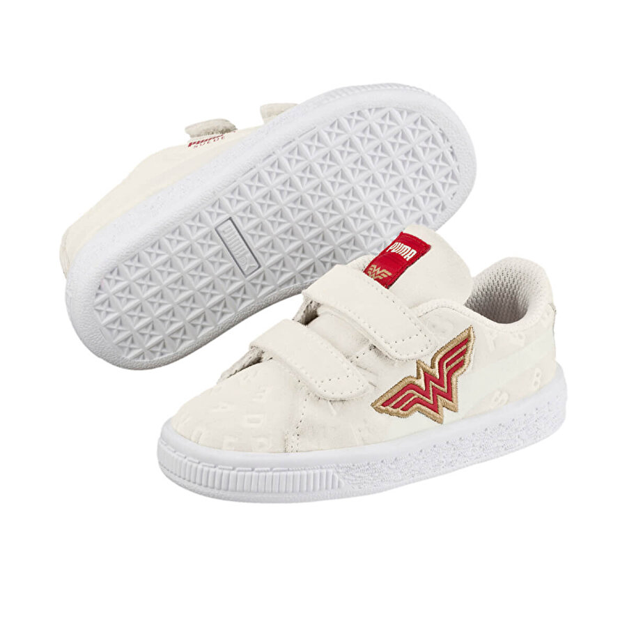 Puma JL SUEDE AOP V INF Beyaz Unisex Çocuk Sneaker Ayakkabı