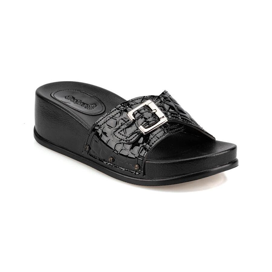 Polaris 92.4M0017RZ Siyah Kadın Dolgu Topuklu Terlik