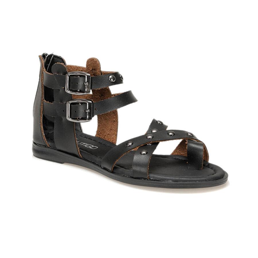 Butigo 19SF-1602 Siyah Kadın Düz Sandalet