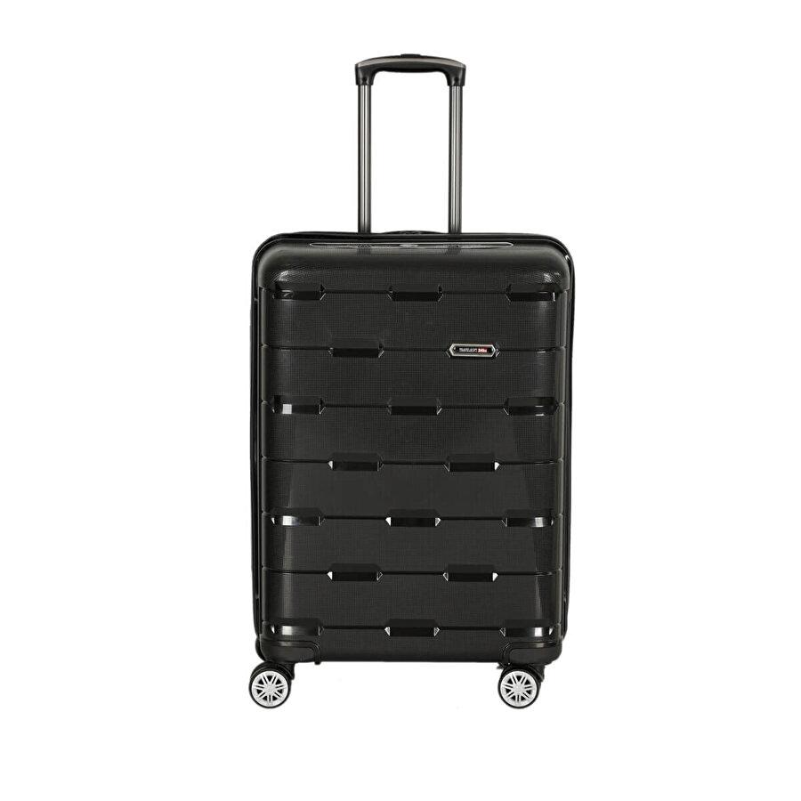 Travel Soft U ALB 6110-O Siyah Unisex Orta Valiz