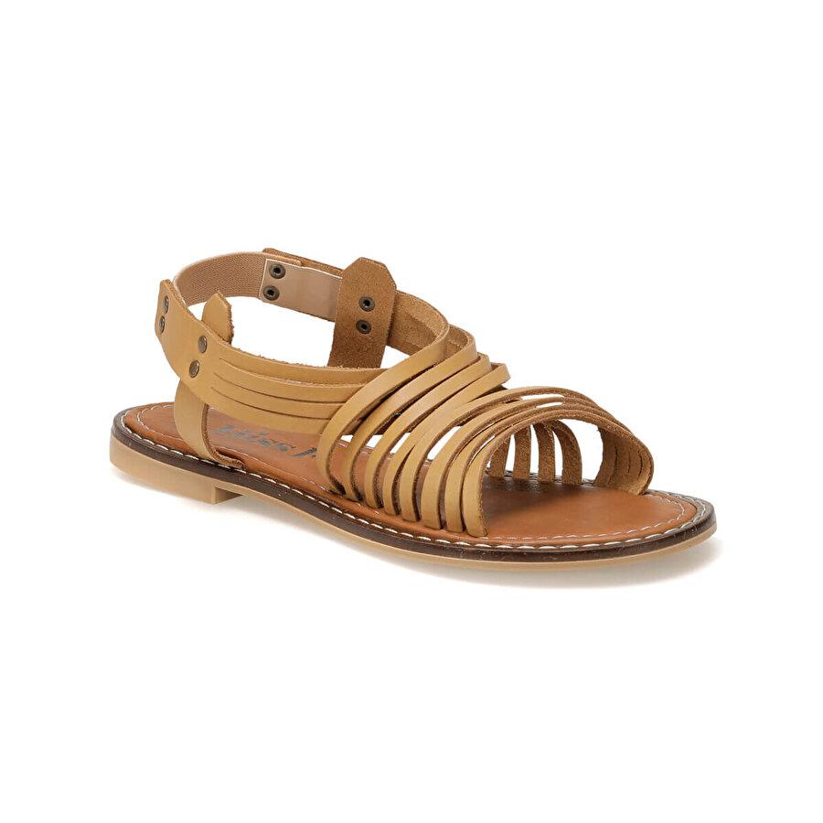 Miss F DS18125-19S Taba Kadın Düz Sandalet