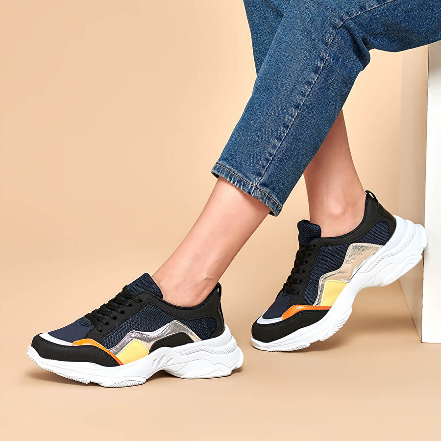 Butigo 19K-070 Lacivert Kadın Sneaker Ayakkabı