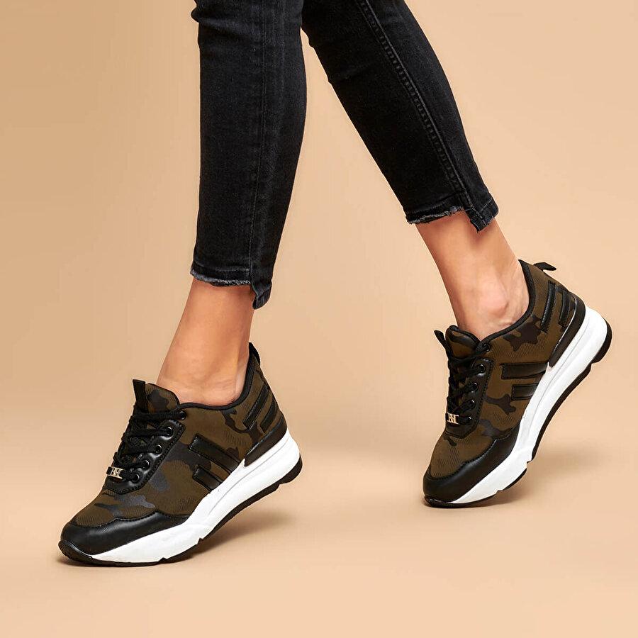 Butigo 19K-Z003 Haki Kadın Sneaker Ayakkabı