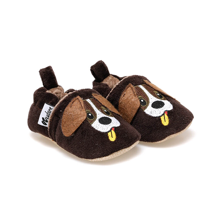 Newborn CUTE FACE Kahverengi Erkek Çocuk Panduf