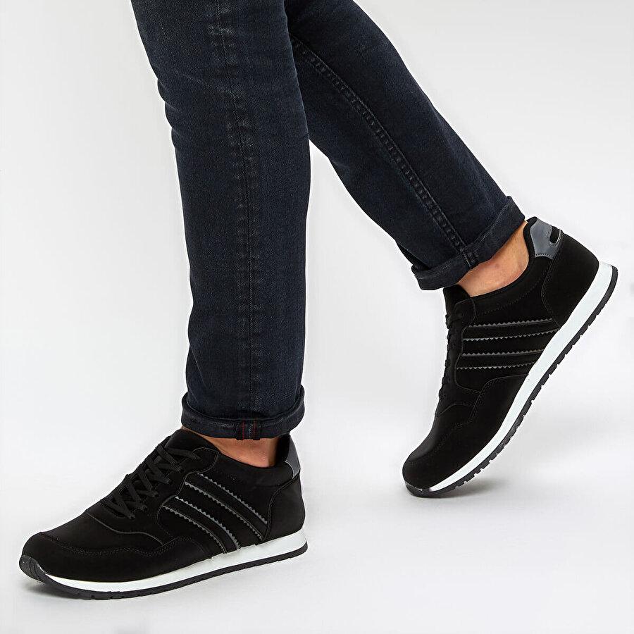 Polaris 92.356073.M Siyah Erkek Casual Ayakkabı