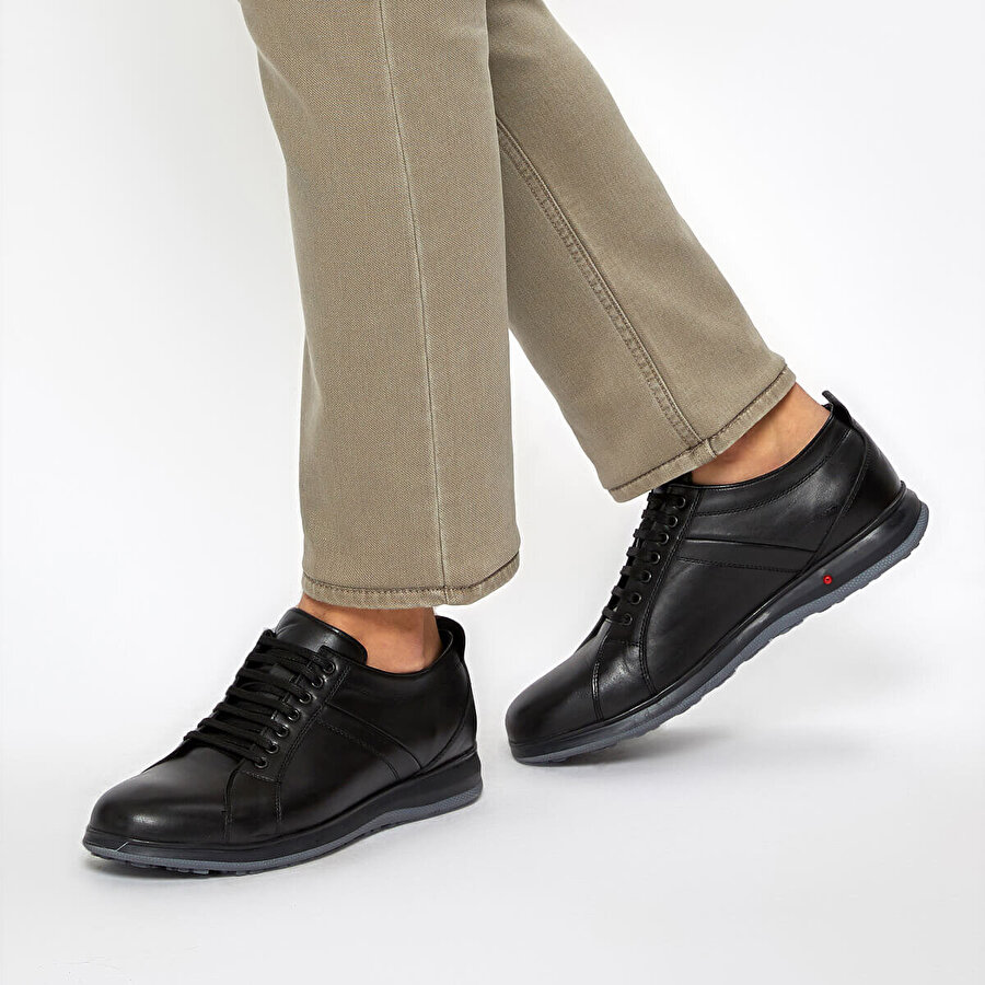 Flogart COM-503 Siyah Erkek Comfort Ayakkabı