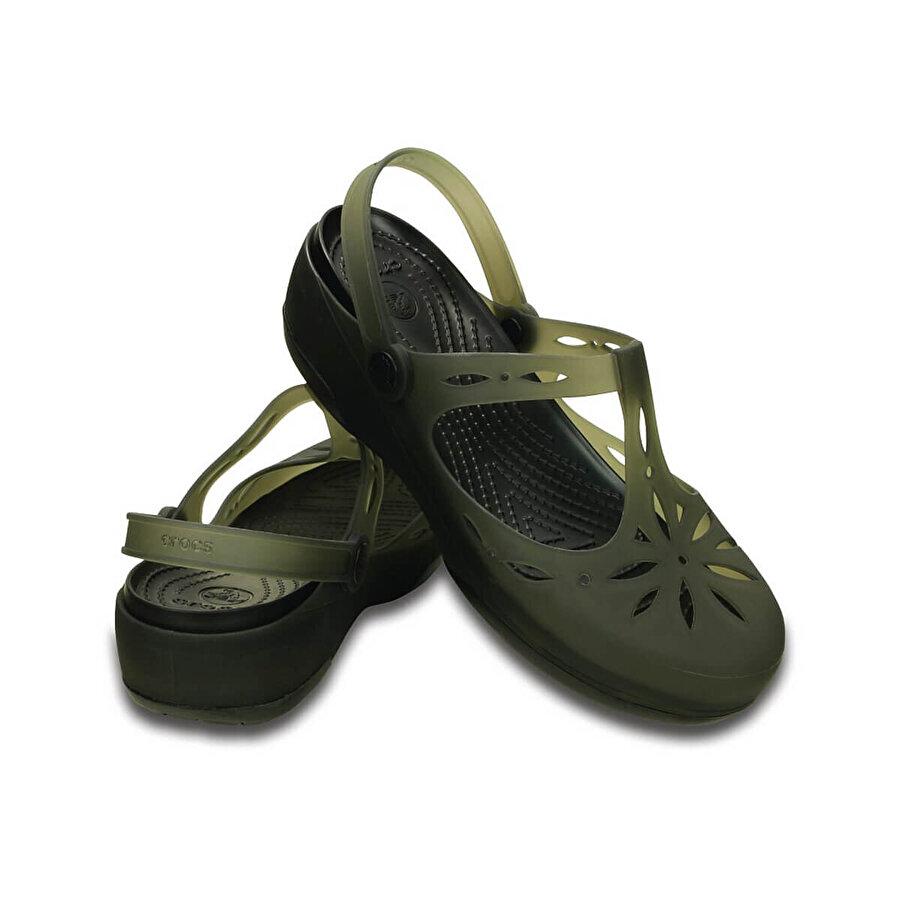 Crocs CARLIE CUTOUT CLOG Haki Kadın Sandalet
