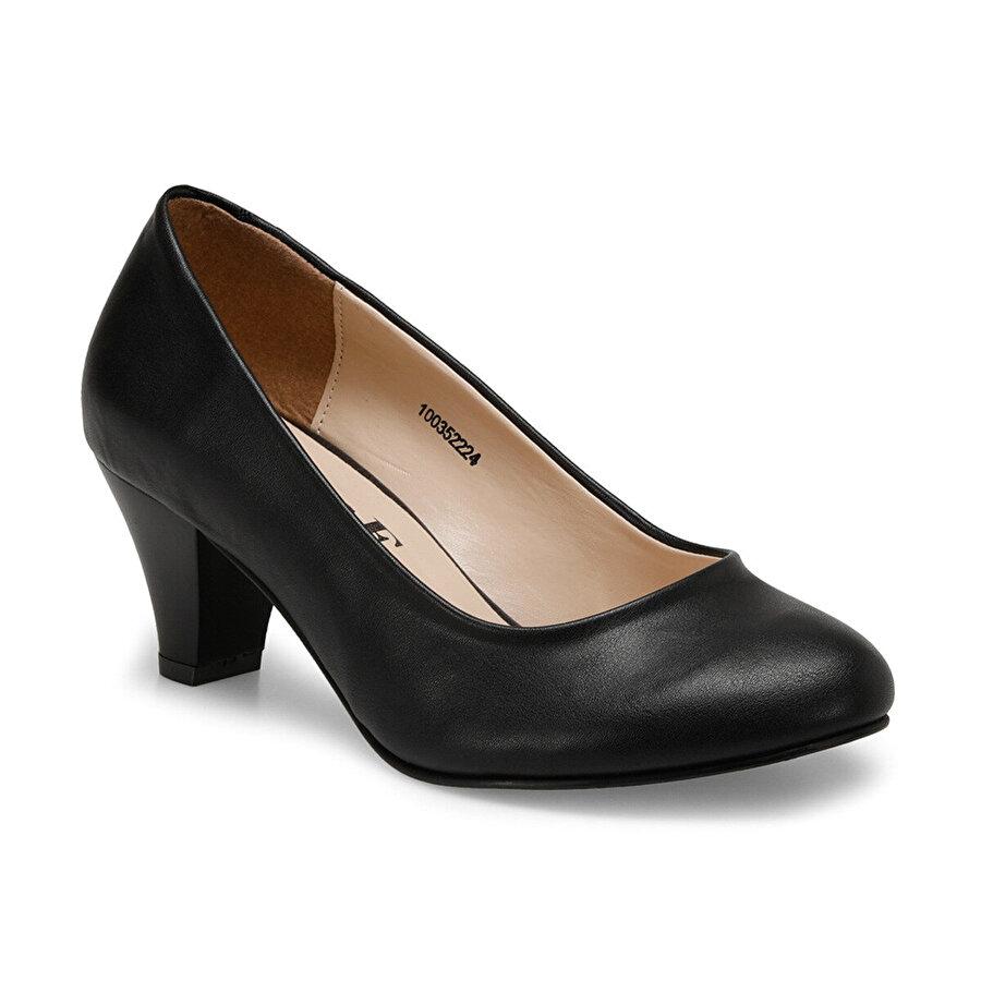 Miss F N16036-19S Siyah Kadın Oxford Ayakkabı