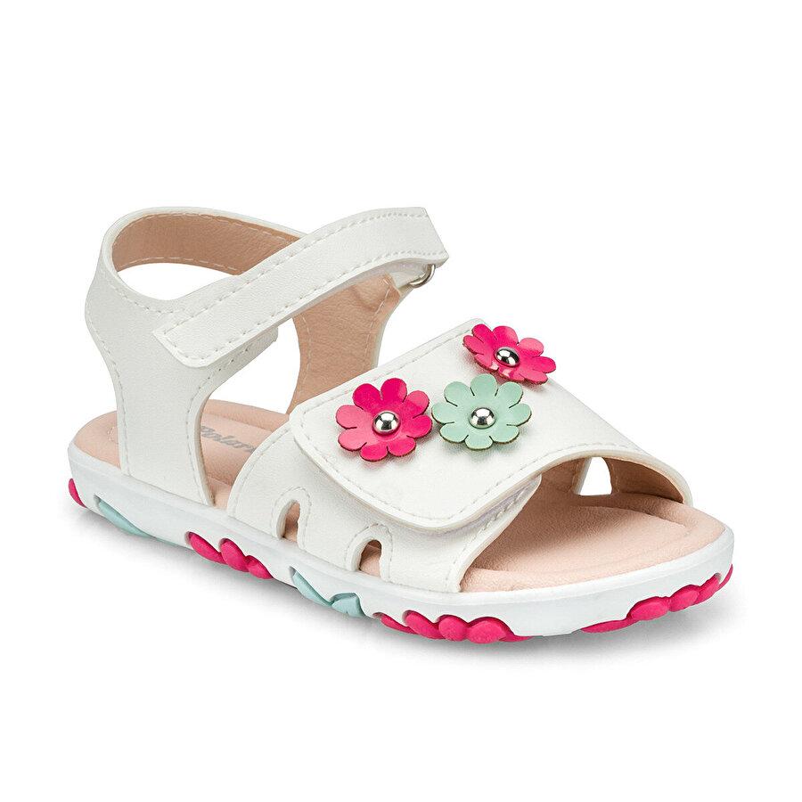 Polaris 512333.P Beyaz Kız Çocuk Sandalet
