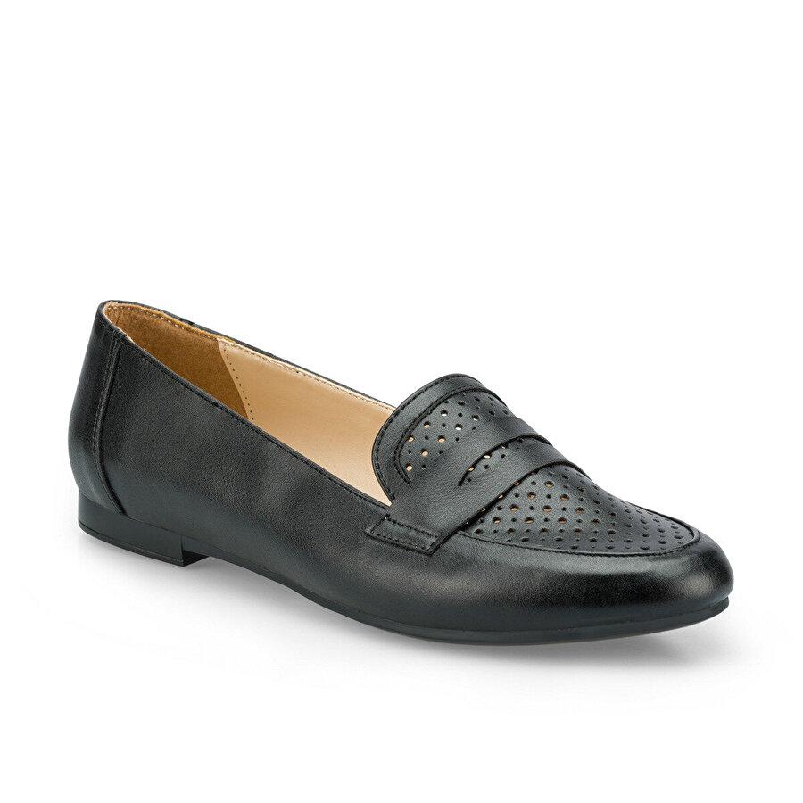 Polaris 315091.Z Siyah Kadın Loafer Ayakkabı