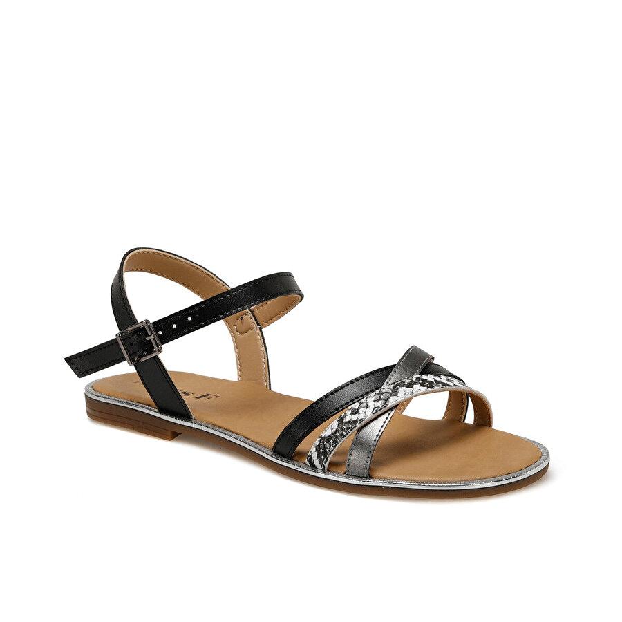 Miss F DS20029 Siyah Kadın Sandalet