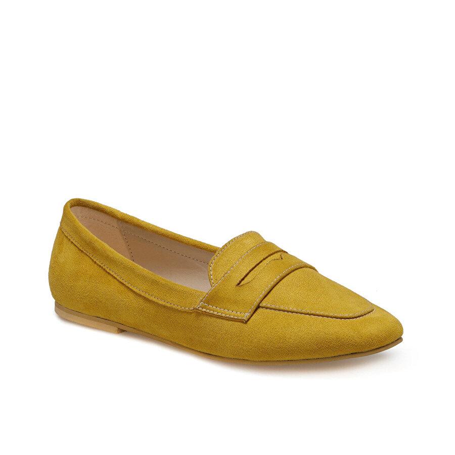 Miss F DS20048 Hardal Kadın Loafer Ayakkabı