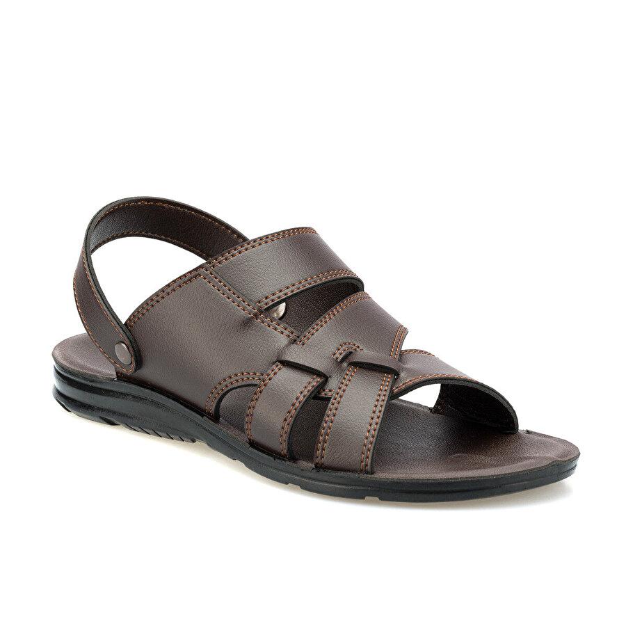 Polaris 160223.M Kahverengi Erkek Sandalet