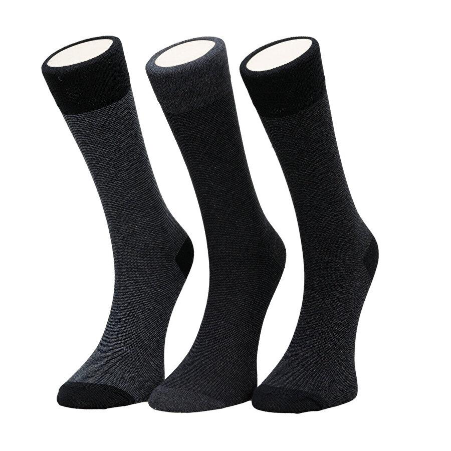 Garamond EXTRA STRIPE 3 LU SKT-M Lacivert Erkek Soket Çorap