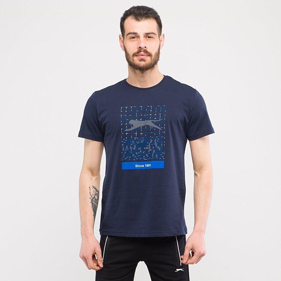 Slazenger KIMI Erkek T-Shirt Lacivert