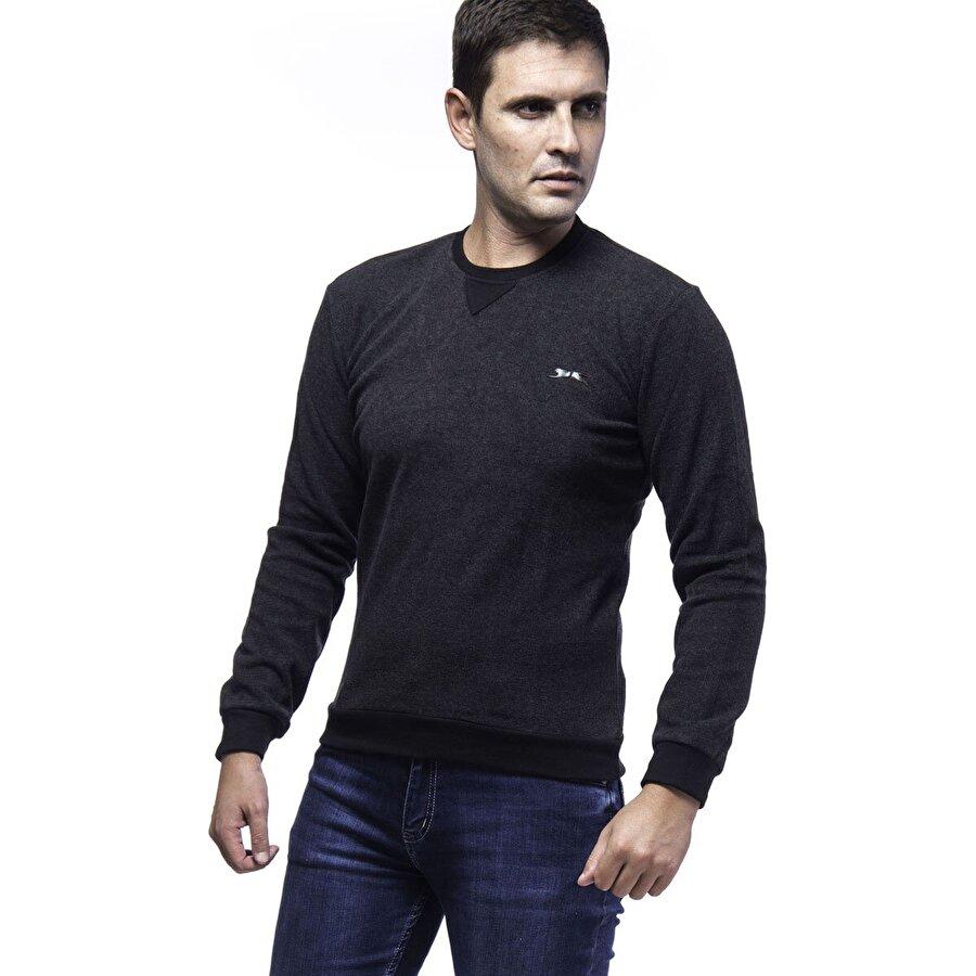 Slazenger SHANON Erkek Sweat Shirt K.Gri