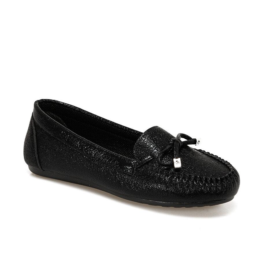 Miss F DS19030 Siyah Kadın Loafer Ayakkabı