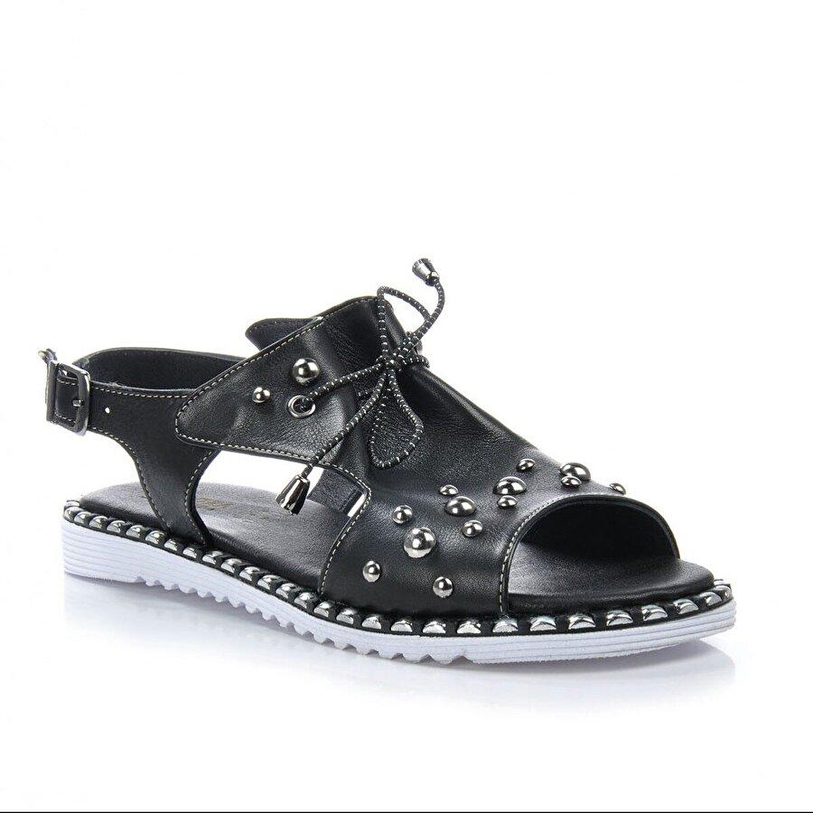 Vizon Ayakkabı Kadın  Siyah Sandalet VZN-217Y