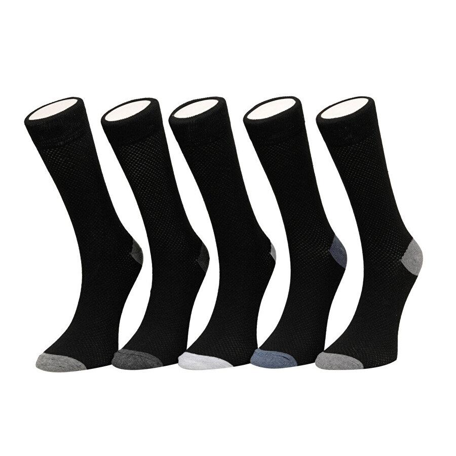 Garamond MESH 5 LI SKT-M Siyah Erkek Soket Çorap