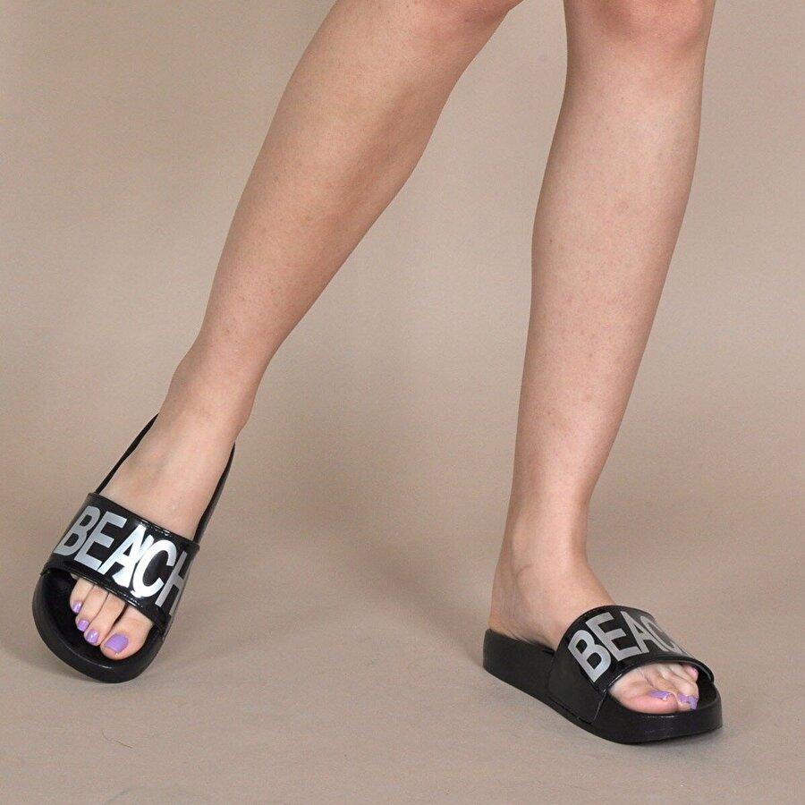 Vizon Ayakkabı Kadın  Siyah Terlik VZN20-130Y
