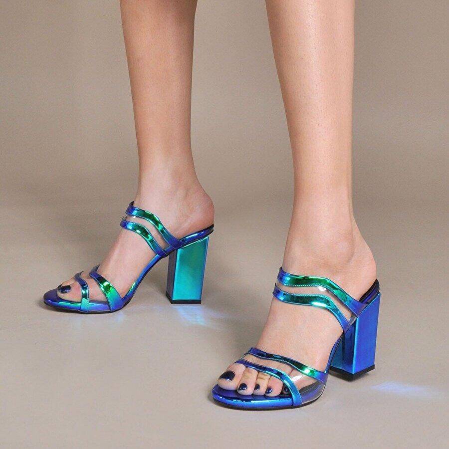 Vizon Ayakkabı Kadın  Lacivert Terlik VZN20-039Y