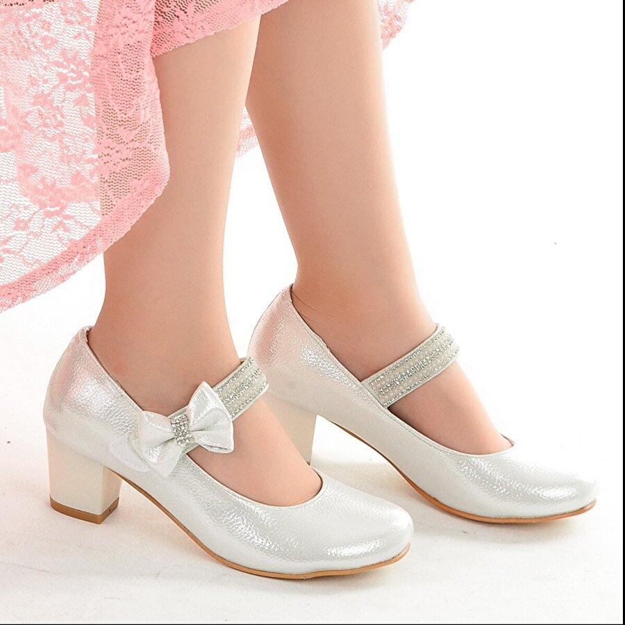 Kiko Kids Kiko 752 Vakko Günlük Kız Çocuk 4 Cm Topuk Babet Ayakkabı Sedef