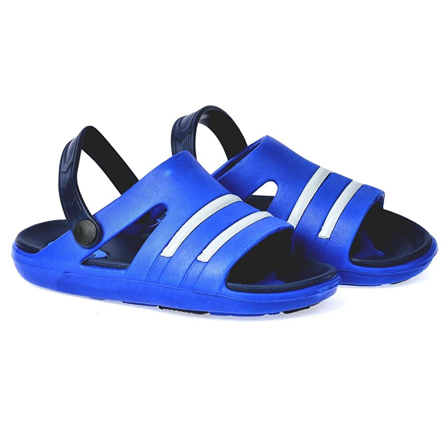 Kiko Kids Kiko Akn E220.000 Plaj Havuz Kız Çocuk Sandalet Terlik Mavi Siyah