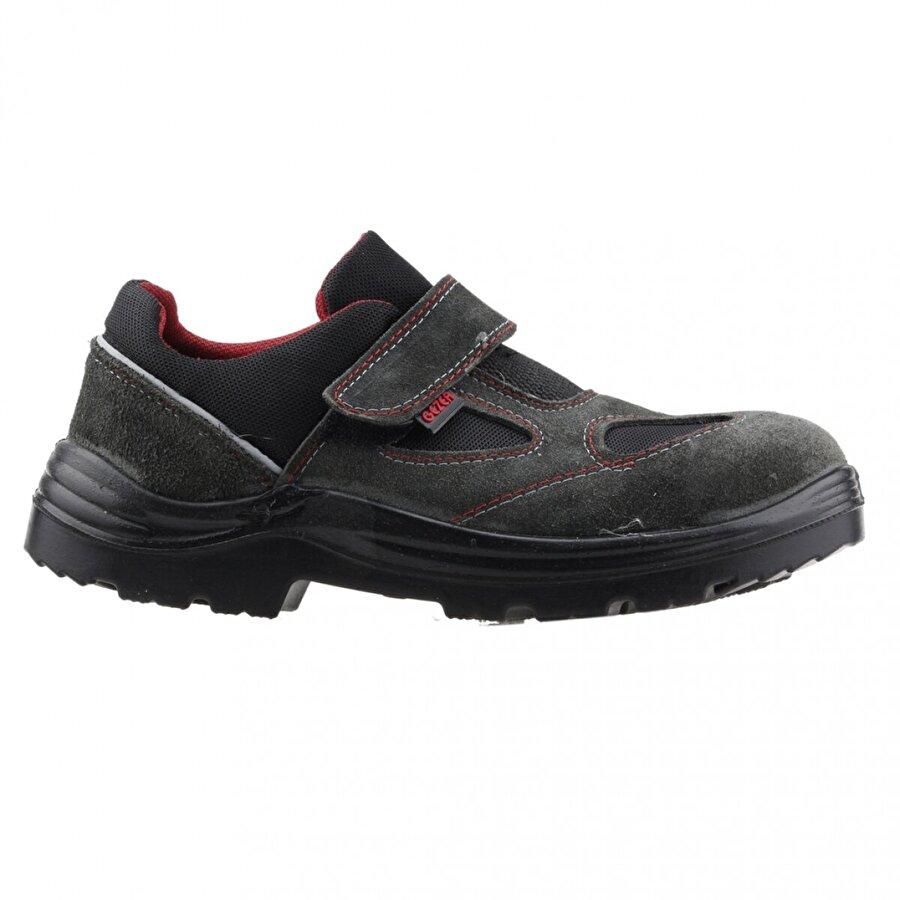 GEZER 1453 Çelik Burun Darbe İş Güvenliği Erkek Ayakkabı GRİ