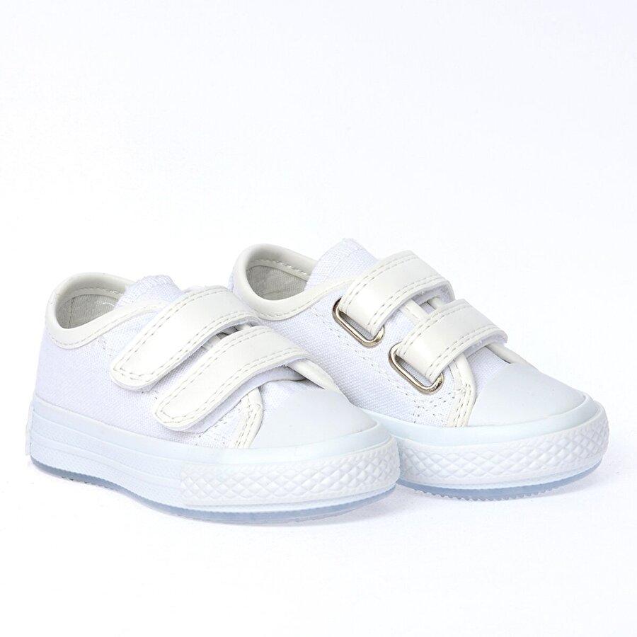 Kiko Kids Kiko Pnd 201C150 Keten Işıklı Kız/Erkek Çocuk Ayakkabı BEYAZ