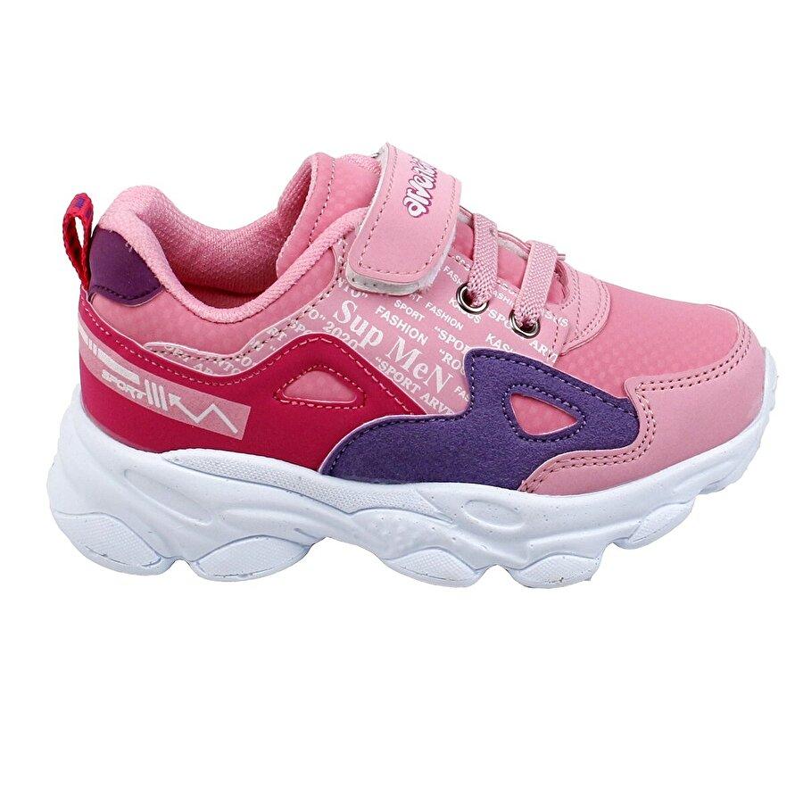 Ayakland Arv 285 Günlük Cırtlı Kız/Erkek Çocuk Spor Ayakkabı Pembe