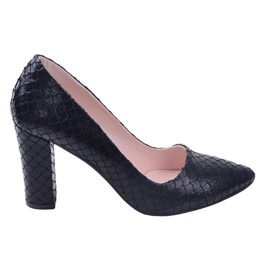 Ayakland 137029-311 32 Pullu 8 Cm Topuk Bayan Ayakkabı SİYAH
