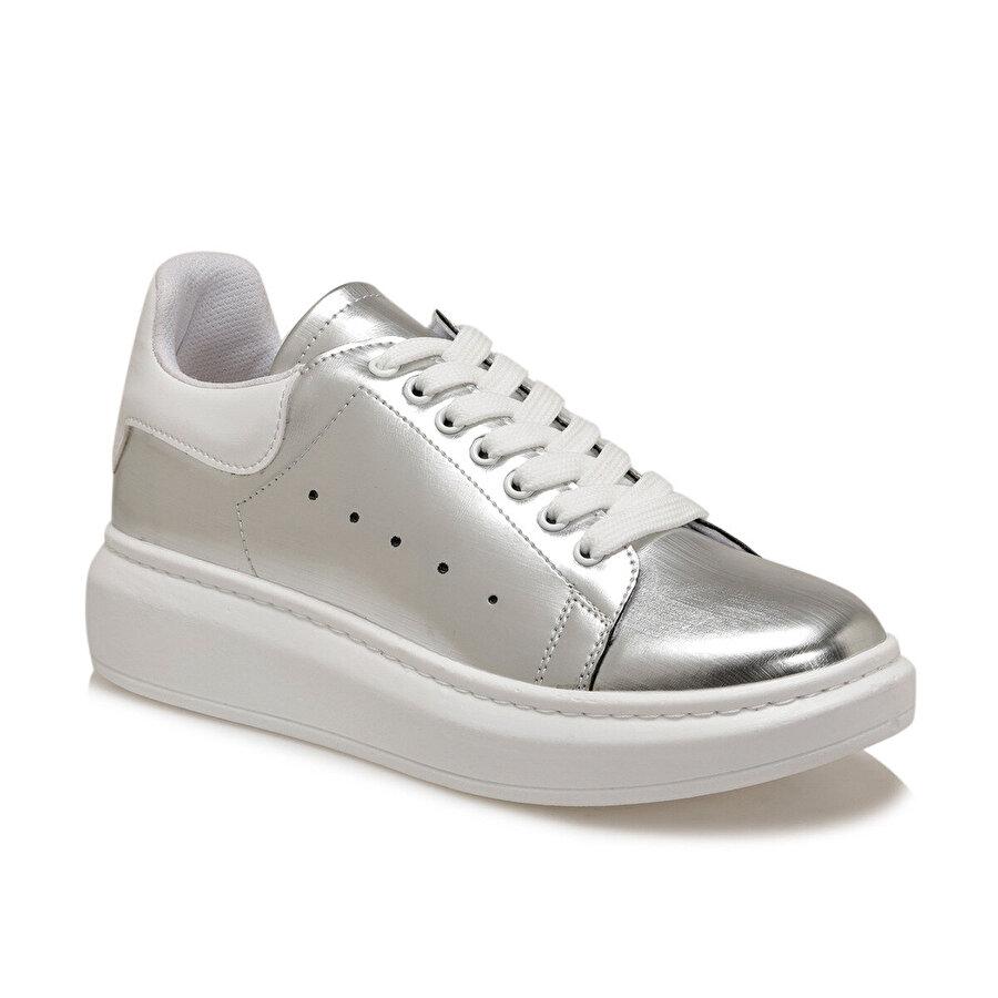 Butigo ADELİTAS Gümüş Kadın Havuz Taban Sneaker