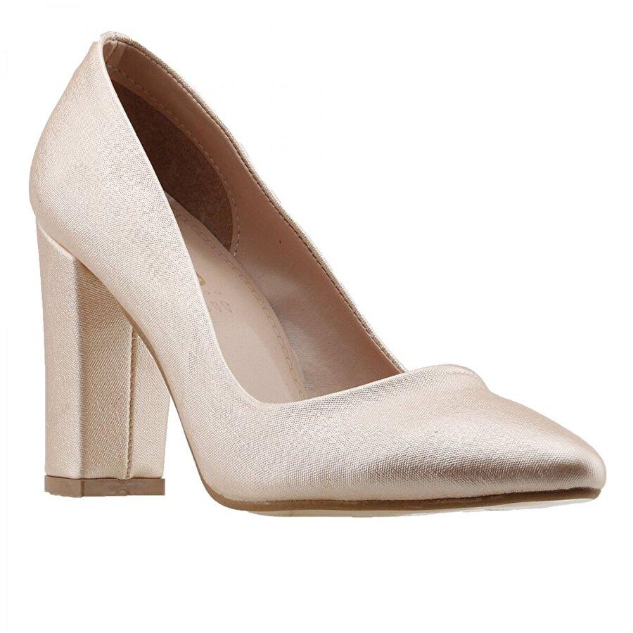Ayakland 137029-311 20 Günlük 8 Cm Topuk Bayan Çupra Ayakkabı Pudra
