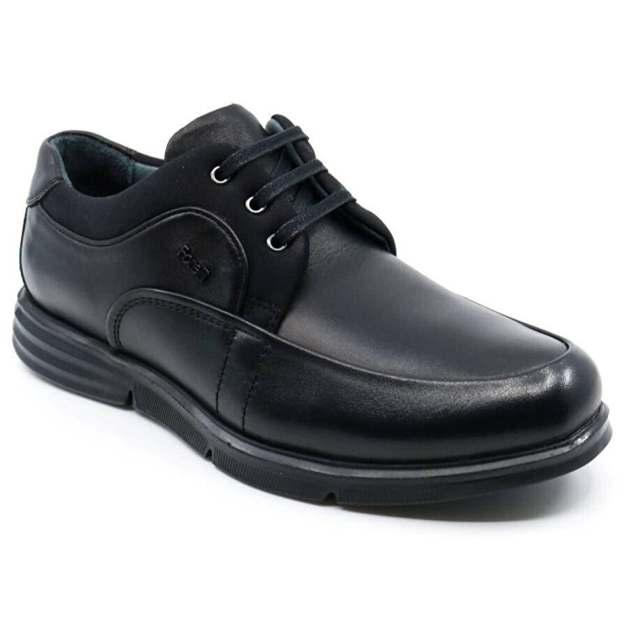 Forelli Rahat Yumuşak Hakiki Deri Erkek Ayakkabı 69001 Siyah