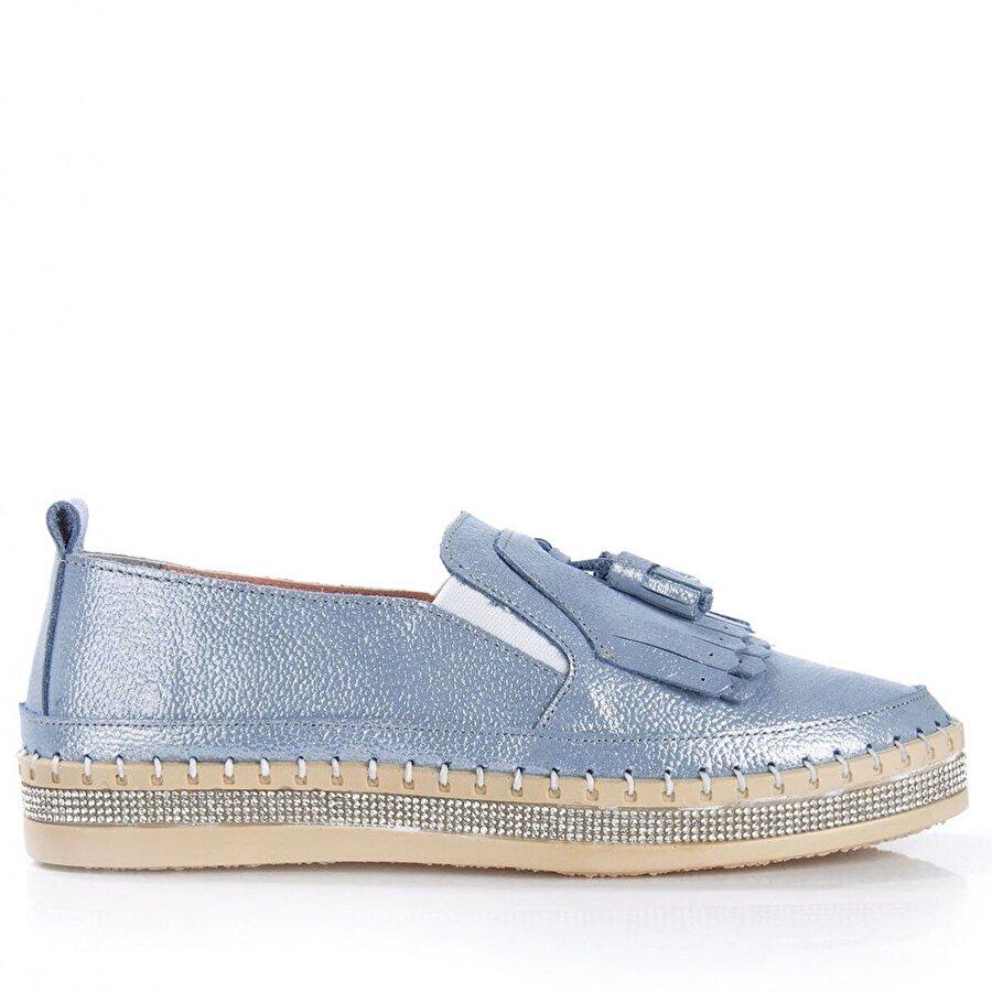 Vizon Ayakkabı Kadın  Mavi Günlük Ayakkabı VZN-190Y