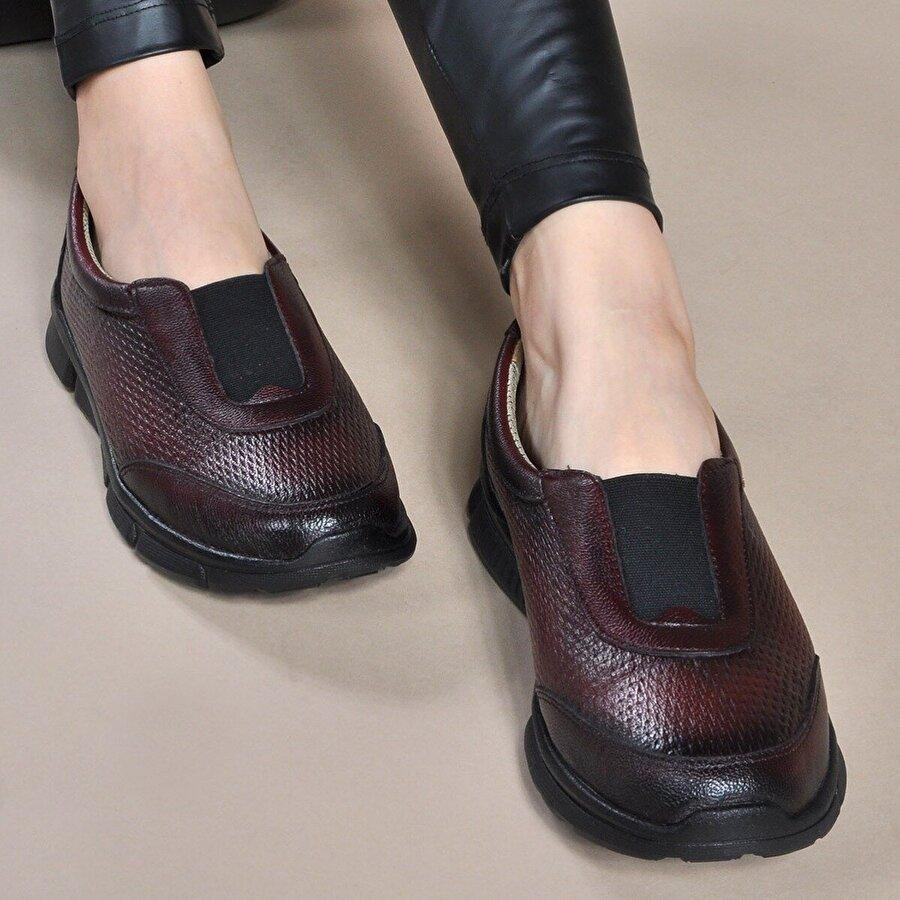 Vizon Ayakkabı Kadın  Bordo Günlük Ayakkabı VZN19-007K