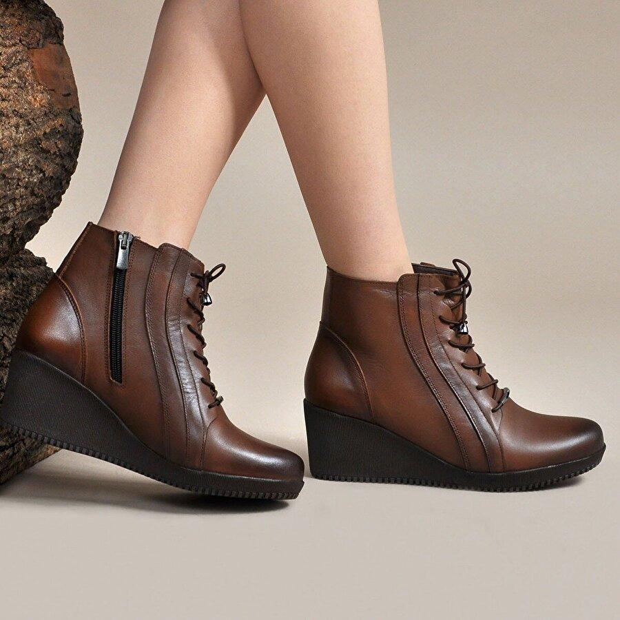 Vizon Ayakkabı Kadın  Taba Bot VZN19-053K