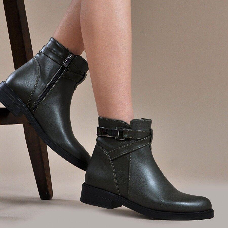 Vizon Ayakkabı Kadın  Haki Bot VZN19-062K