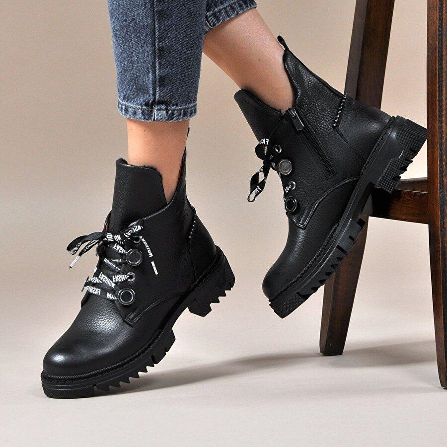 Vizon Ayakkabı Kadın  Siyah Bot VZN19-106K