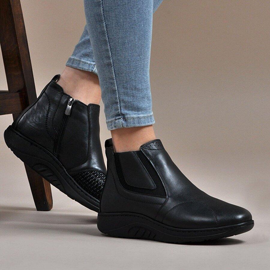 Vizon Ayakkabı Kadın  Siyah Bot VZN19-107K