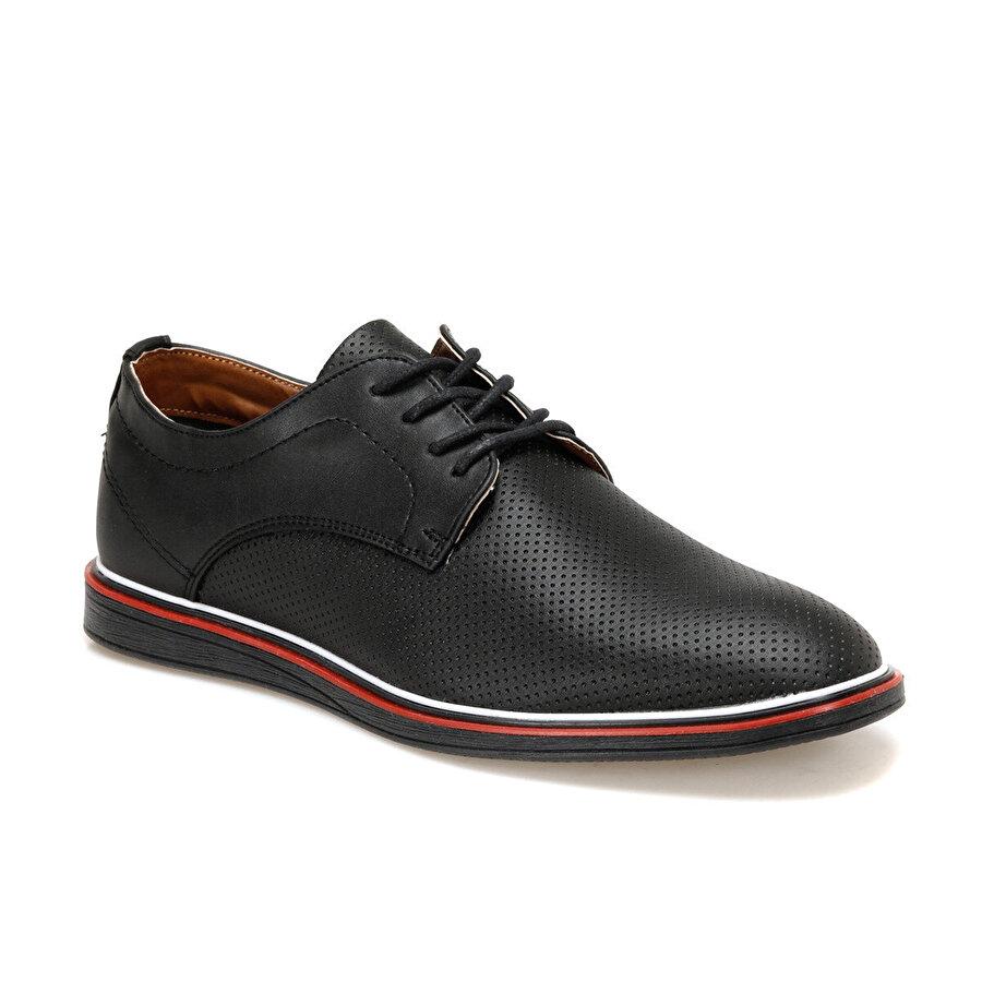 JJ-Stiller 853 Siyah Erkek Klasik Ayakkabı