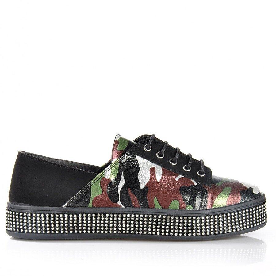 Vizon Ayakkabı Kadın  Yeşil Spor  Sneaker Ayakkabı VZN-175Y