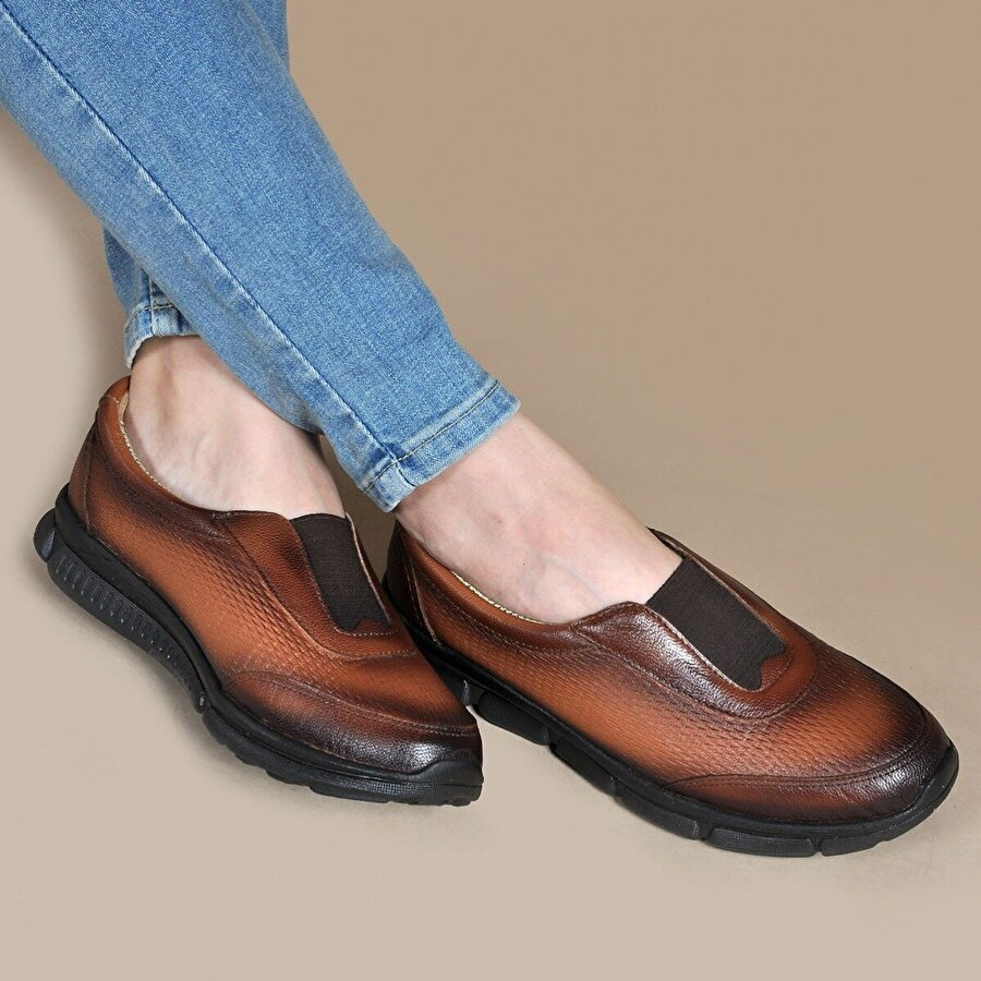 Vizon Ayakkabı Kadın  Taba Günlük Ayakkabı VZN19-007K