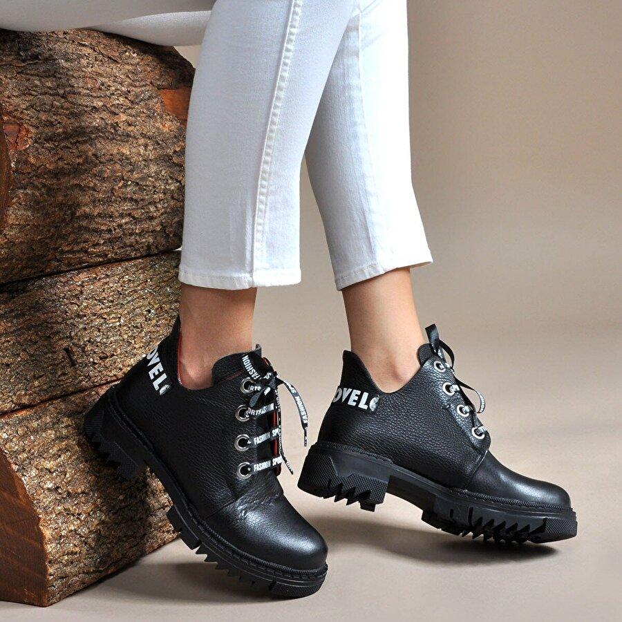 Vizon Ayakkabı Kadın  Siyah Bot VZN19-048K