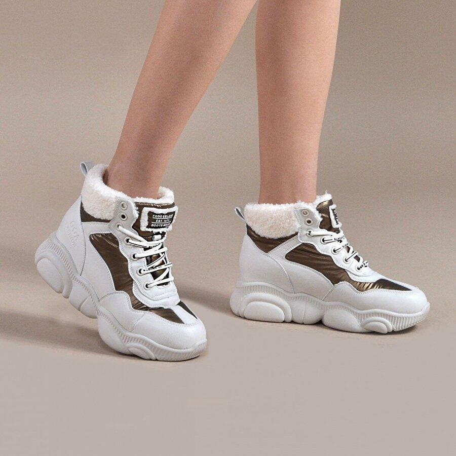 Vizon Ayakkabı Kadın  Kahve Spor  Sneaker Ayakkabı VZN19-083K