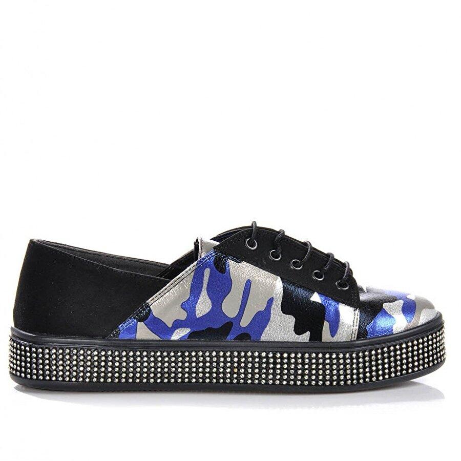 Vizon Ayakkabı Kadın  Mavi Spor  Sneaker Ayakkabı VZN-175Y