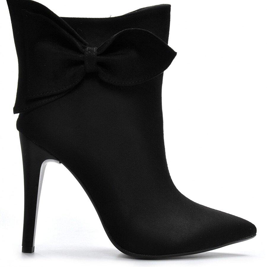 Vizon Ayakkabı Kadın  Siyah-Süet Bot VZN19-118K