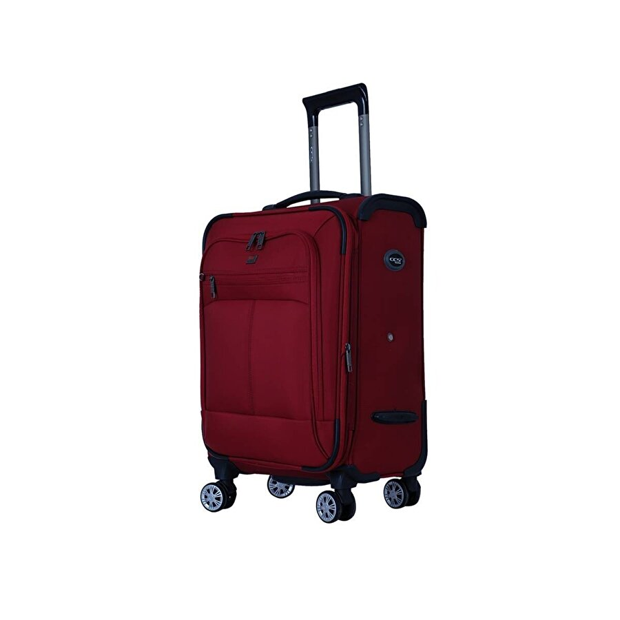 Ççs 05150 Kırmızı Orta Boy Kumaş Valiz